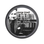 George Orwell: Language Thought Wall Clock