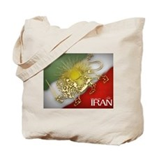 Iran Golden Lion & Sun Tote Bag