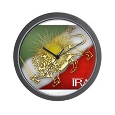 Iran Golden Lion & Sun Wall Clock
