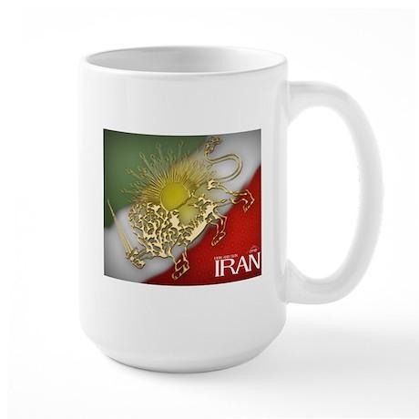 Iran Golden Lion & Sun Large Mug