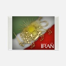 Iran Golden Lion & Sun Rectangle Magnet