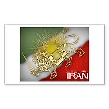 Iran Golden Lion & Sun Rectangle Decal