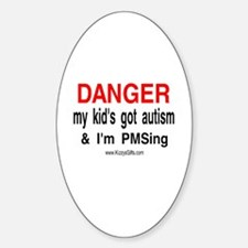 AUTISM/PMS 2 Oval Decal