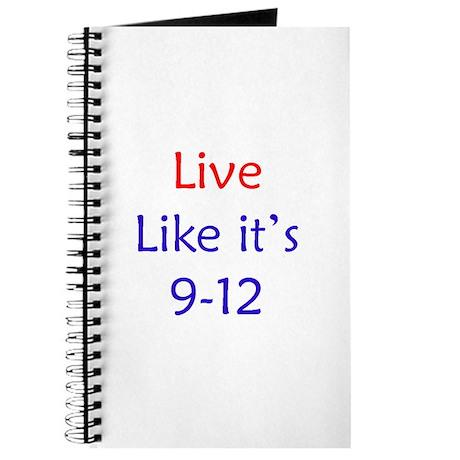 """Live like it's 9-12"" Journal"