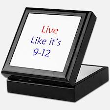 """""""Live like it's 9-12"""" Keepsake Box"""