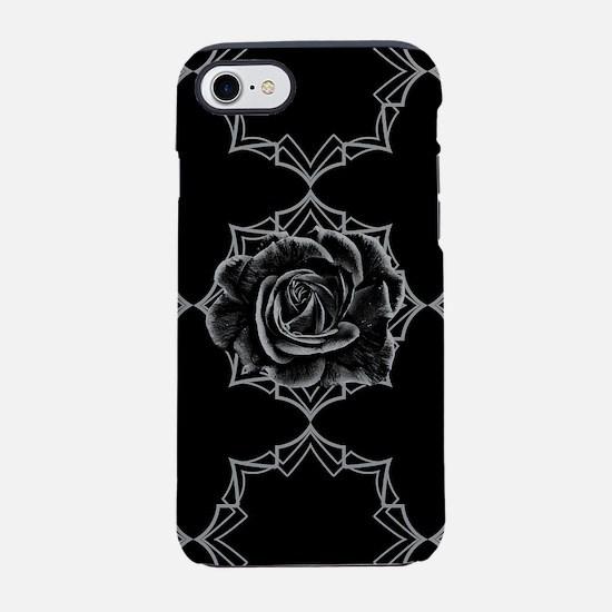 Black Rose On Gothic iPhone 7 Tough Case