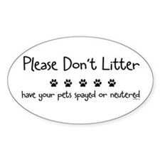 Please Dont Litter Decal