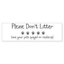 Please Dont Litter Bumper Sticker