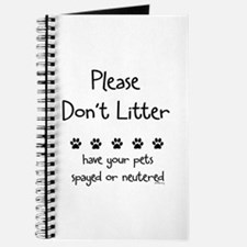 Please Dont Litter Journal