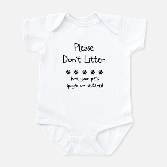 Please Dont Litter Infant Bodysuit
