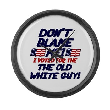 Don't Blame Me! Large Wall Clock