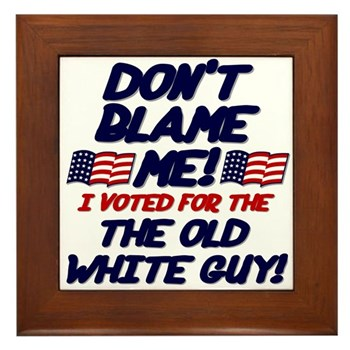 Don't Blame Me! Framed Tile