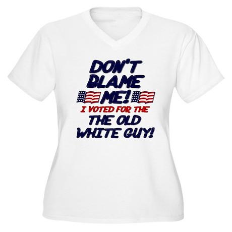 Don't Blame Me! Women's Plus Size V-Neck T-Shirt
