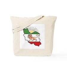 Iran Flag-Map & Sun Tote Bag