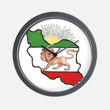 Iran Flag-Map & Sun Wall Clock