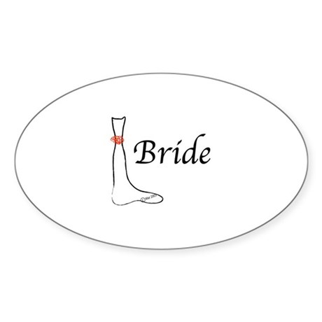 bride Oval Sticker