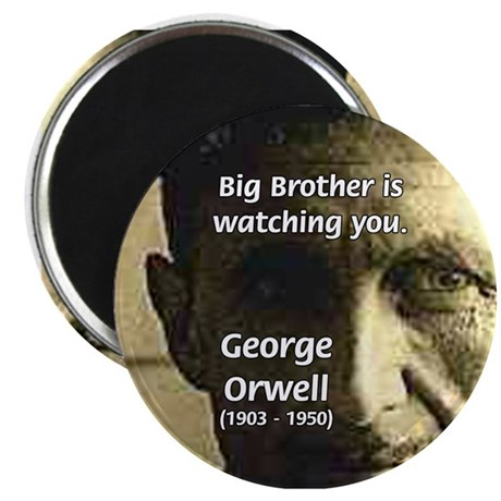 Orwell Big Brother 1984 Magnet