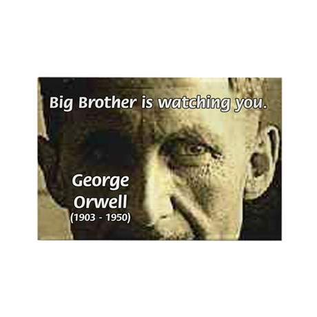 Orwell Big Brother 1984 Rectangle Magnet (10 pack)