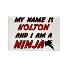 my name is kolton and i am a ninja Rectangle Magne