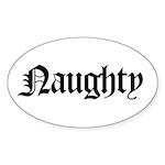 Naughty Oval Sticker (10 pk)