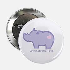 """Celebrate Rhino 2.25"""" Button"""