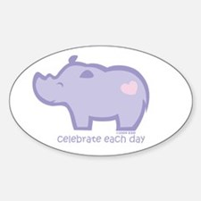 Celebrate Rhino Oval Decal