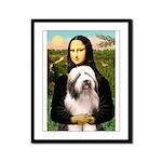 Mona / Bearded Collie #1 Framed Panel Print