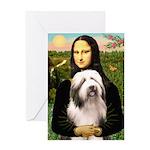 Mona / Bearded Collie #1 Greeting Card