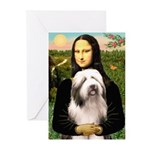 Mona / Bearded Collie #1 Greeting Cards (Pk of 10)