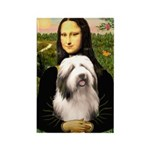 Mona / Bearded Collie #1 Rectangle Magnet (10 pack