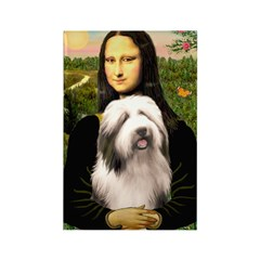 Mona / Bearded Collie #1 Rectangle Magnet (100 pac