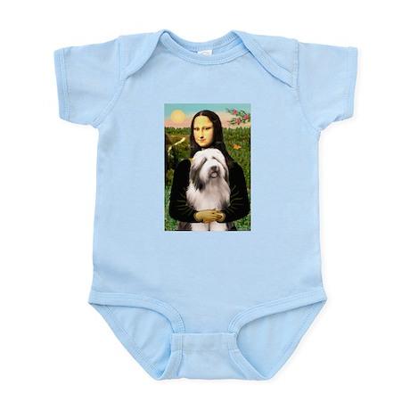 Mona / Bearded Collie #1 Infant Bodysuit