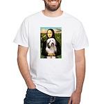 Mona / Bearded Collie #1 White T-Shirt