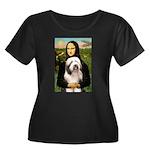 Mona / Bearded Collie #1 Women's Plus Size Scoop N