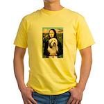 Mona / Bearded Collie #1 Yellow T-Shirt