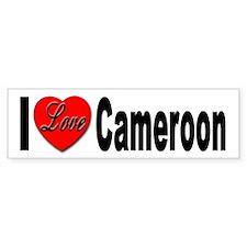 I Love Cameroon Bumper Bumper Sticker