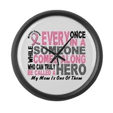 HERO Comes Along 1 Mom BREAST CANCER Large Wall Cl