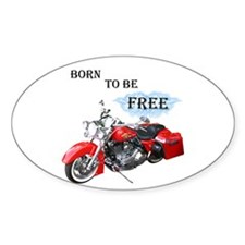 Born To Be Free Oval Sticker (10 pk)