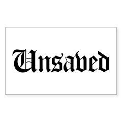 Unsaved Rectangle Sticker 10 pk)