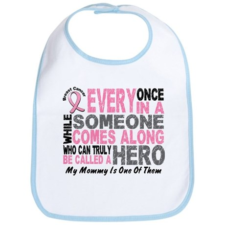 HERO Comes Along 1 Mommy BREAST CANCER Bib