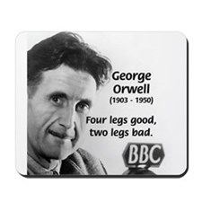 Modern Fable Writer Orwell Mousepad