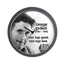 Modern Fable Writer Orwell Wall Clock