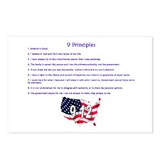 9 Principles 12 Values Postcards (Package of 8)