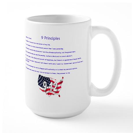 9 Principles 12 Values Large Mug