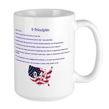 9 Principles 12 Values Mug