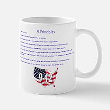 9 Principles 12 Values Mug