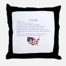 9 Principles 12 Values Throw Pillow