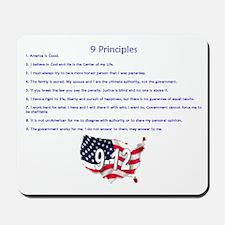 9 Principles 12 Values Mousepad
