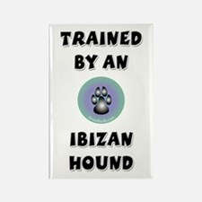 Trained by an Ibizan Hound Rectangle Magnet (100 p
