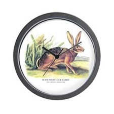 Audubon Jack Rabbit Animal Wall Clock
